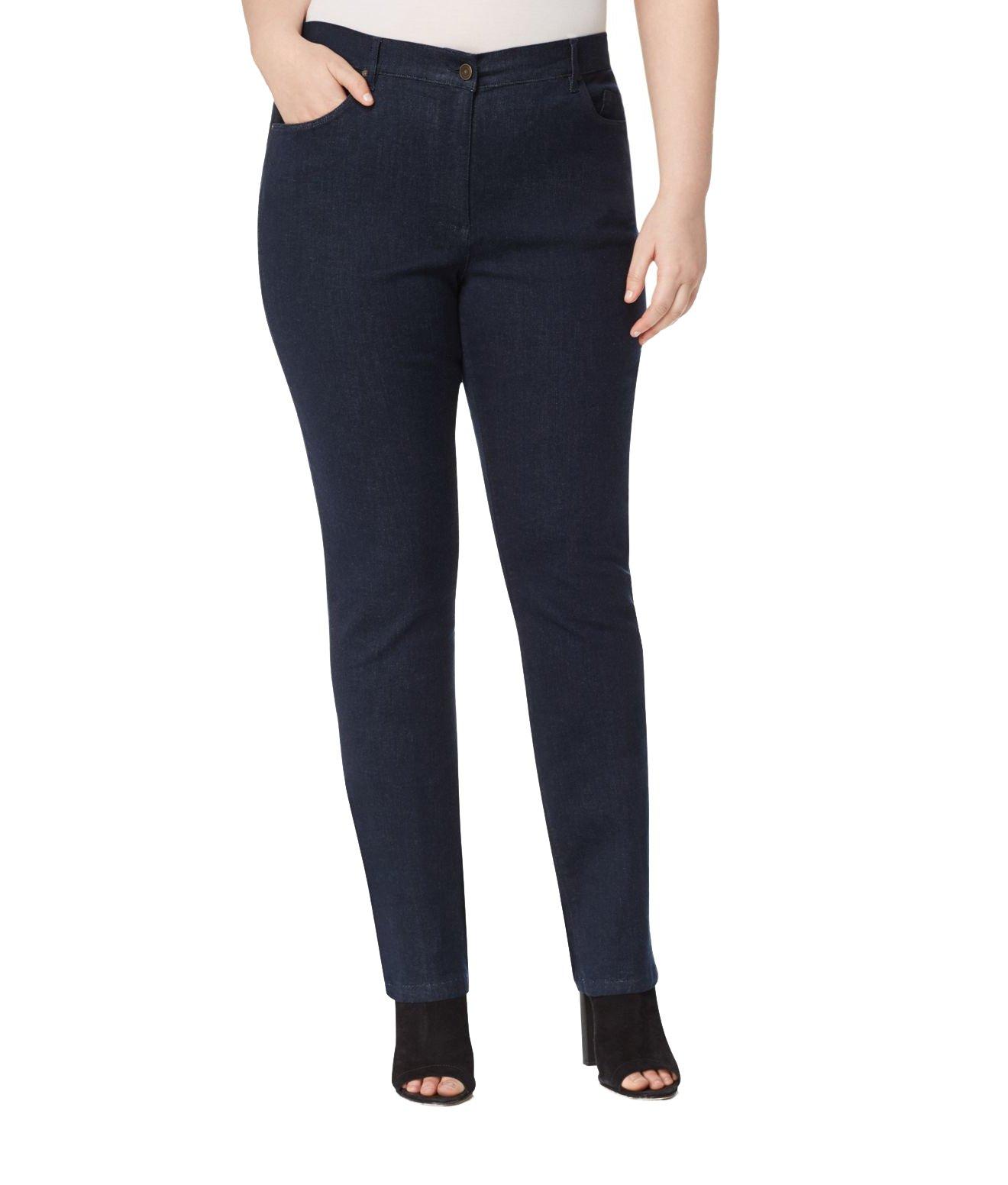 Marina Rinaldi Women's Ilare Original Slim Jeans, Dark Indigo, 24W/33