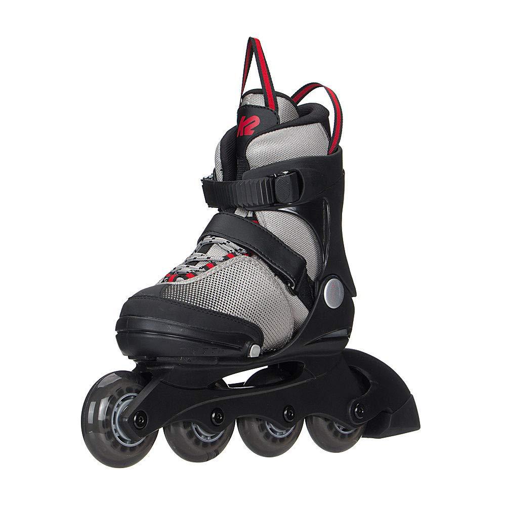 K2 Skate Youth Raider Inline Skates Gray//Red