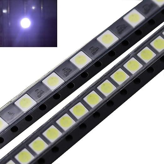 Be82aene 50 PCS 2W 6V 3535 Enfriar Blanco Perlas de luz LED for ...