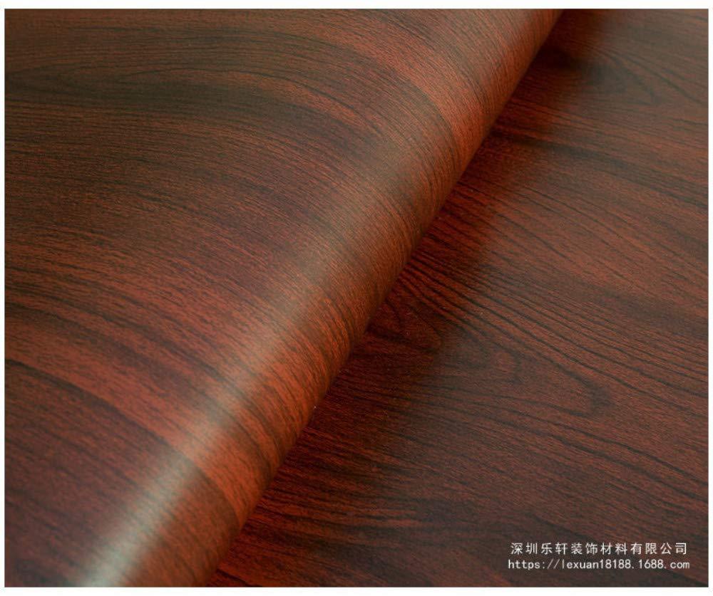 AdorabPaper Imperm/éable Pvc Grain De Bois Autocollant Film De Couleur Autocollant Autocollant Papier Peint Grain De Bois Jaune Fonc/é 60cm X 300cm 23.6in X 118.1in