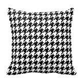 Houndstooth Pattern Black And White Throw Pillow Fashion Throw Pillow Case Shell Decorative Cushion Cover 18 x 18""
