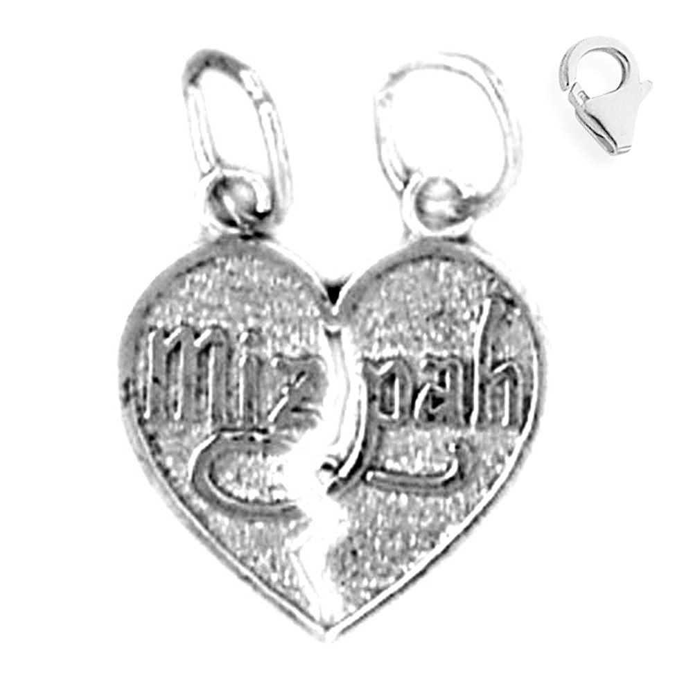 Charms for Bracelets and Necklaces Mizpah Charm With Lobster Claw Clasp