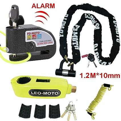 1.2m Cable Bicycle Lock Rope Anti-theft Security Reminder Motorbike Disc Lock OJ