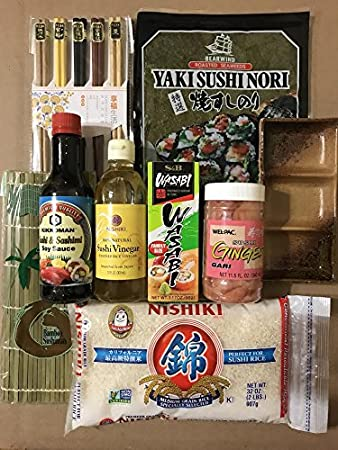 Amazon.com: Japanese Sushi Complete Making Kit By KC Commerce ...