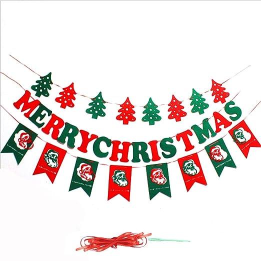 Amaoma Navidad Adornos Banner Carta Navidad Cartel Colgante ...