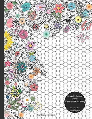 Specialty Journal Paper Composition Notebook (Floral) Hexagon Paper (Small) Honeycomb Hex Grid Pages .2 inch sides: Honeycomb Hex Bio and Organic Chemistry Exercise Book
