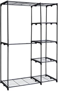 Great Whitmor Deluxe Double Rod Freestanding Closet Heavy Duty Storage Organizer