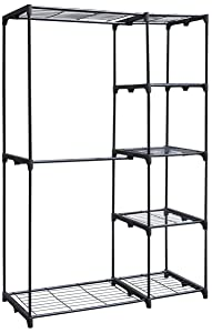 Whitmor Deluxe Double Rod Freestanding Closet Heavy Duty Storage Organizer