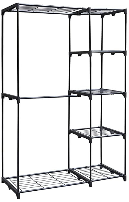 Whitmor Deluxe Double Rod Freestanding Closet Heavy Duty Storage Organizer