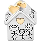 Uniqueen Family House Home charm Fits charms