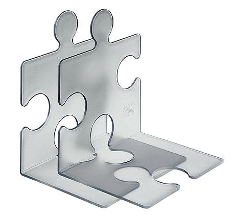 CD-Ständer Buchstütze Puzzle 2Stück transparent 9212