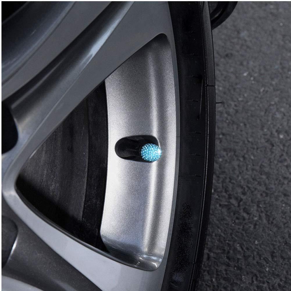 Valve Cap Bling Crystal Valve Cap Universal Car Tire Valve Caps Attractive Dust-Proof Creative Valve Caps Car Accessories Light Green 4 Pcs