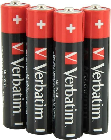 Verbatim 323095 - Pack de 4 Pilas AAA (1.5V): Amazon.es: Informática