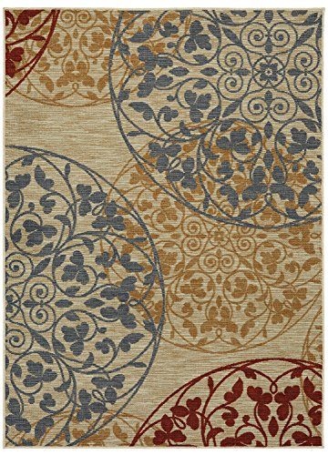 Mohawk Home Soho Medallones Garden Medallion Printed Area Rug, 5'x7', Beige from Mohawk Home