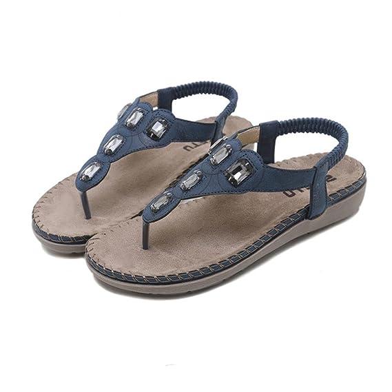 8e9918c48ffbbf Amazon.com  Luckylin Women Juniors Flat Shoes Bohemia Lady Rhinestone Sandals  Outdoor Shoes  Sports   Outdoors