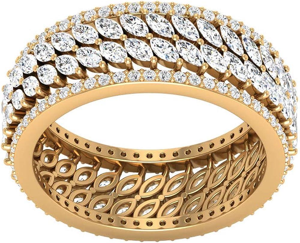 Anillo de boda con diamante certificado IGI de 2,66 CT, anillo de boda, aniversario de novia, anillo de eternidad, declaración de cumpleaños, promesa de compromiso de cumpleaños