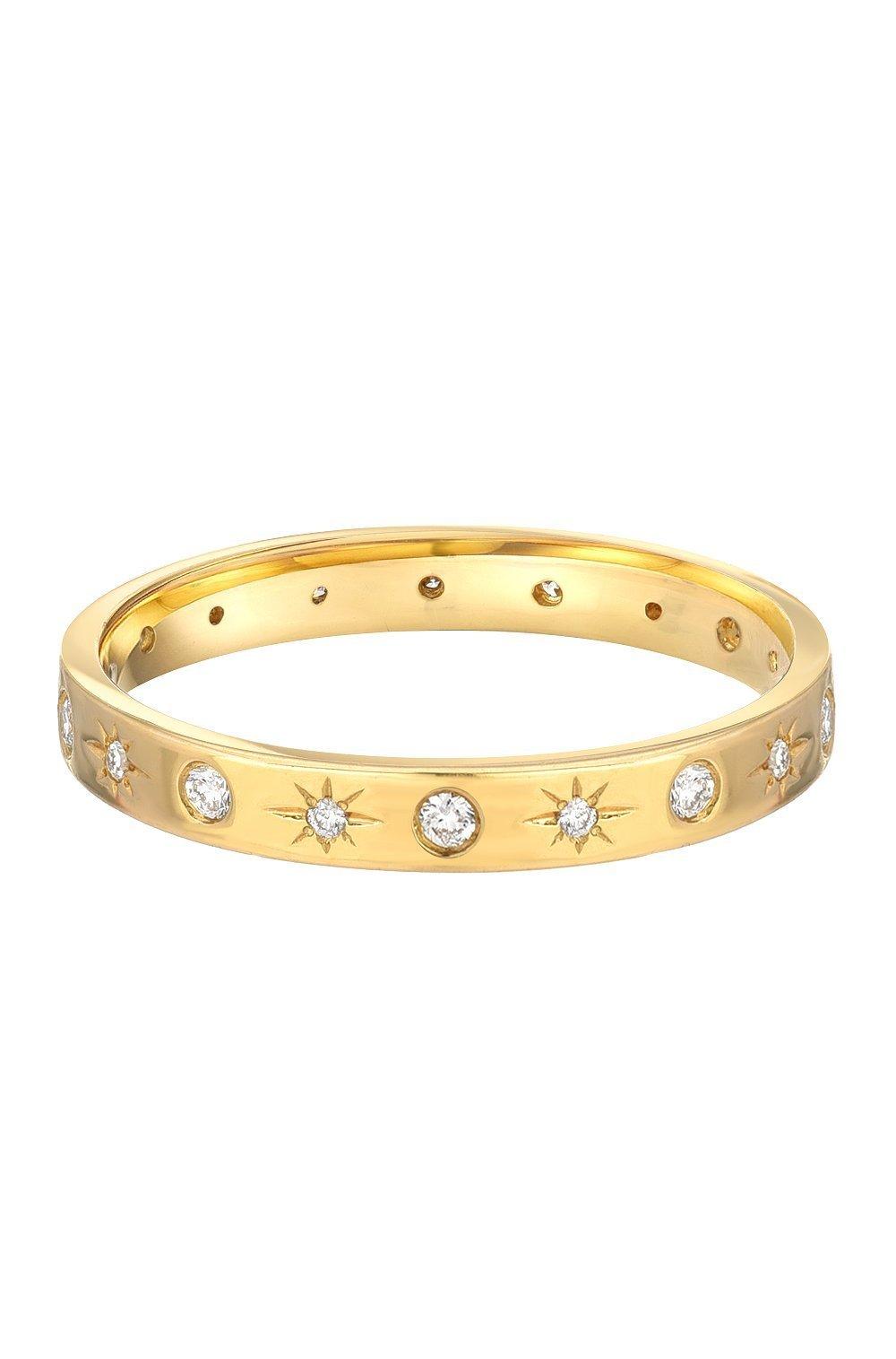 Diamond starburst ring, 14k solid gold