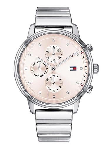 Tommy Hilfiger Reloj Multiesfera para Mujer de Cuarzo con Correa en Acero Inoxidable 1781904: Amazon.es: Relojes