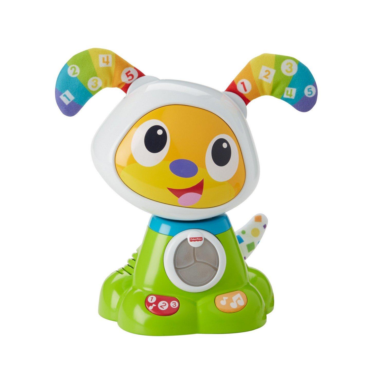 Fisher-Price Bebo le Chien Robot Interactif, Jouet Sons et Lumières pour Apprendre à Lire et à Écrire à Bébé, 9 Mois et Plus, FBC94 Mattel