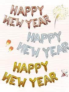 Amazon.com: Genekun 37 PCS 2020 Happy New Year Decorations ...