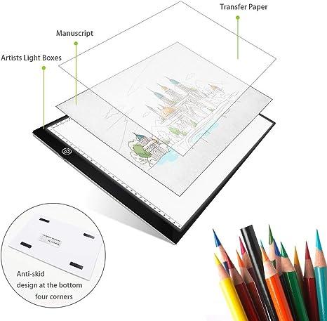 Mesa de Luz Para Dibujo A4 , Ultra-delgado LED Tableta de Luz ...