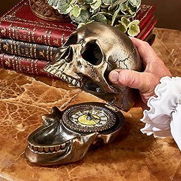 Design Toscano Memento Mori Skull Clock