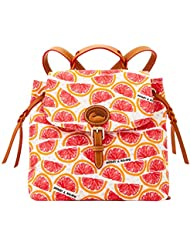Dooney & Bourke Nylon Flap Backpack Citrus Grapefruit