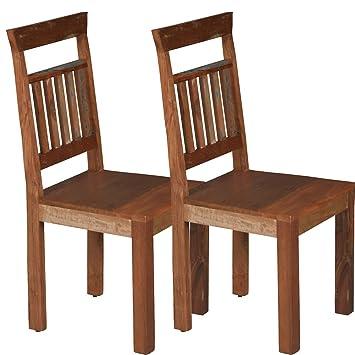 Schön 2 X Vintage Esszimmerstuhl U0026quot;Gonzalesu0026quot; Aus Recycling Holz   2  Variationen   Holzstuhl