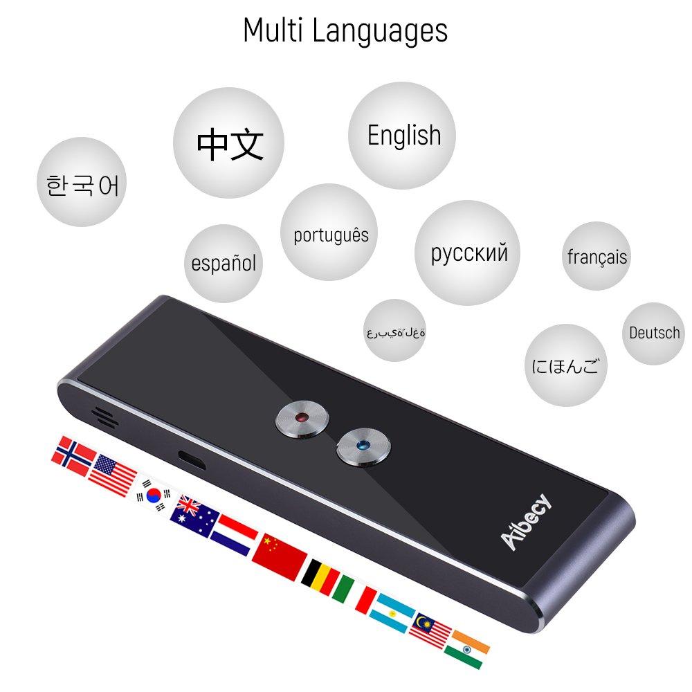 Aibecy Smart Multi Language Translator Real-time Speech/Text ...