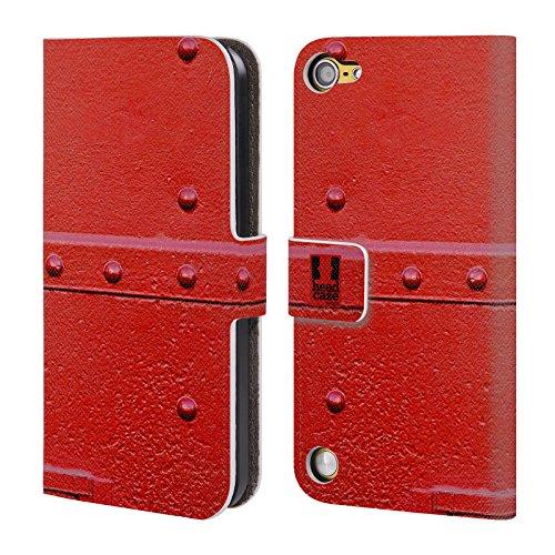 Head Case Aereo Militare Dipinti Di Trasporti Cover telefono a portafoglio in pelle per Apple iPod Touch 5G 5th Gen / 6G 6th Gen