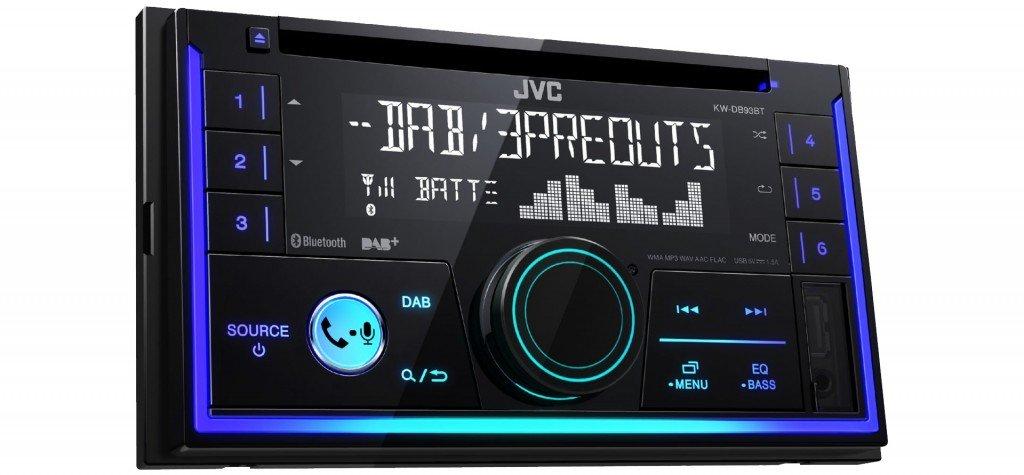 Einbauzubeh/ör Autoradio Radio JVC KW-DB93BT Einbauset f/ür Seat Ibiza 6J 2DIN Schwarz JUST SOUND best choice for caraudio 2-DIn DAB+ Bluetooth MP3 USB
