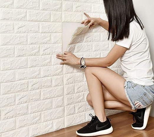 3D Tapete Ziegel Steintapete Backstein Selbstklebend Wandaufkleber 60x30cm
