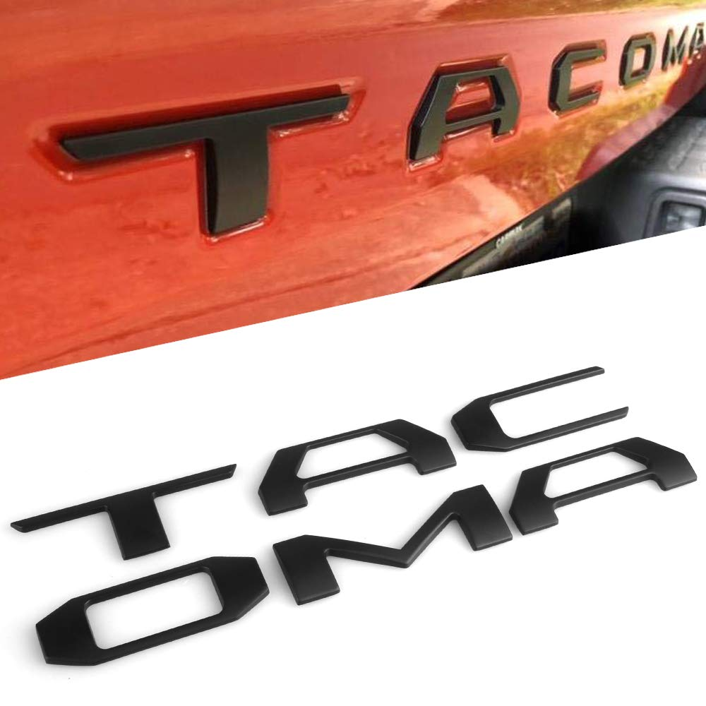 CAR ROVER For Toyota Tundra 2014-2019 Tailgate Insert Letters - Black GUANGZHOU STARTWAY AUTOPART Tailgate Insert Letters Toyota Tundra