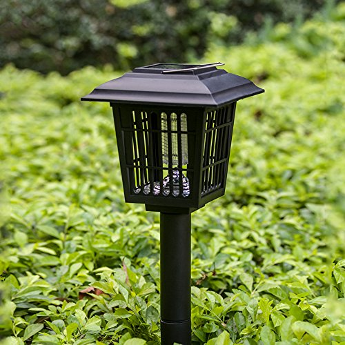 Porch Light Bug Zapper: YIER Solar-Powered Outdoor Insect Killer / Bug Zapper