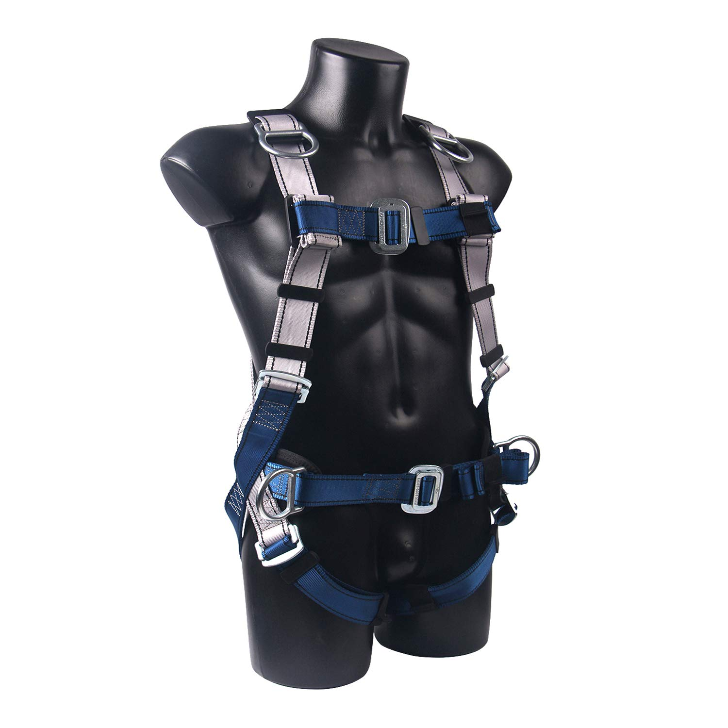 JINGYAT Full Body Safety Harness Fall Protection with 5 D-Ring,Universal Personal Protective Equipment (130-310 pound),Construction Industrial Tower Roofing Tool by JINGYAT (Image #1)