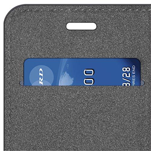"""HAMA Étui portefeuille """"Guard Case - Carbon"""" pour Apple iPhone 7, gris"""