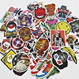 UTSAUTO Pack of 100 pcs Personalize Laptop Skin Decals and Stickers for Kids Window Motorcycle Luggage Computer Book Skateboard Bike Stickers And Decals Car Bumper Graffiti Stickers Waterproof TYPE B