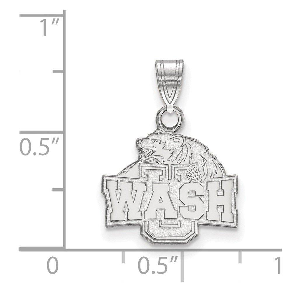 Jewel Tie 925 Sterling Silver Washington University in St 14mm x 19mm Louis Small Pendant