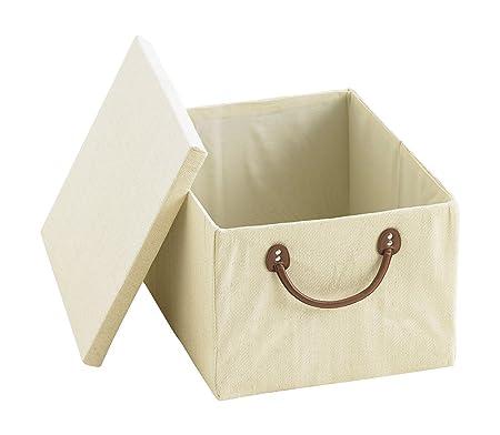 Greenwoods Calico Jumbo Lidded Storage Boxes, Set Of 2