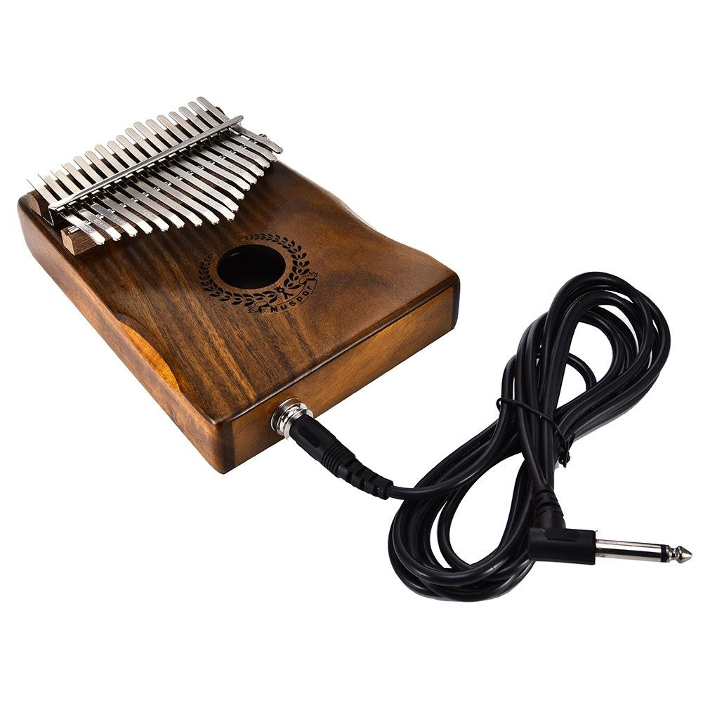 Samber Kalimba 17 Keys Thumb Piano Solid Finger Piano 17Key EQKalimbaSolidAcaciaThumbPianoLinkSpeakerElectricPickupwithBagCable with Tuning and Note Layout by Samber (Image #4)