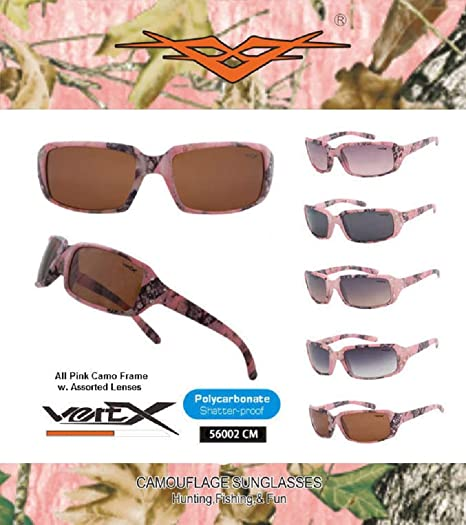 880e9d23c3 VertX Women s Pink Camouflage Sunglasses with Rhinestone Free Camo  Microfiber Pouch (Pink