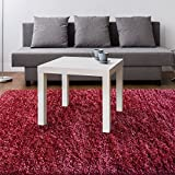 iCustomRug Laylah Super Dense Wool Shag Area Rug 8ft0in x 10ft0in (8' x 10') With Long Lasting Vibrant Colors In Red
