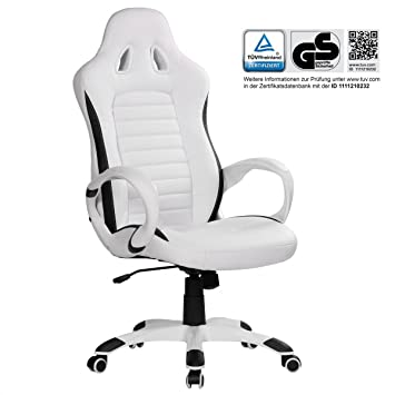 Home Collection24 Silla de Oficina Racer Blanco Gaming Chef Sillón Racing giratoria 120 kg Mecanismo de sincronización Race Escritorio Silla: Amazon.es: ...