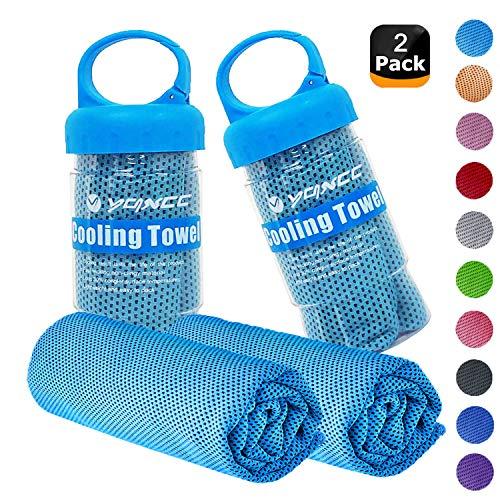 "YQXCC Cooling Towels 2 Pack (47""x12"") Travel Towel Microfibre Gym"