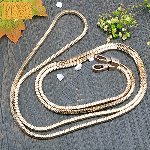 DIYNP Copper Gold Chain Strap Handbag Chains Purse Handles Shoulder Crossbody Bags Replacement Straps with Earphone Case