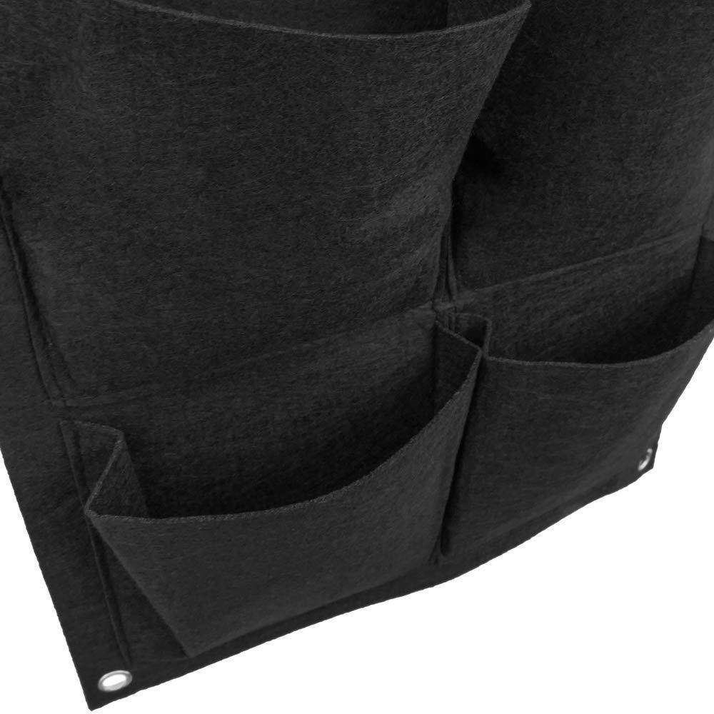 Giardino Verticale per pareti in Feltro per la Crescita delle Piante 35x50cm cm con 6 Tasche 2-Pack PrimeMatik