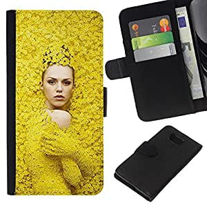 KingStore / Leather Etui en cuir / Samsung ALPHA G850 / Moda Mujer Diseño de Primavera;