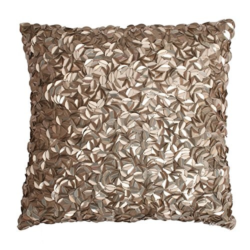 Mermaid Sequin Square Throw Pillow Beige - Decor Therapy