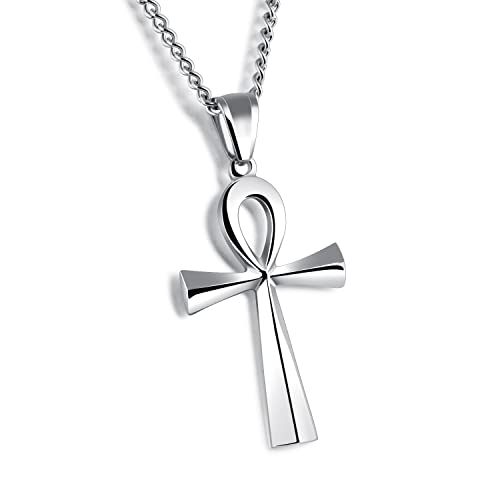 Amazon 25x43mm hieroglyph jewelry meaning life egyptian ankh 25x43mm hieroglyph jewelry meaning quotlifequot egyptian ankh pendants necklace in stainless aloadofball Image collections