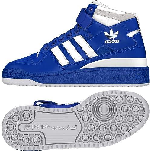 Adidas Forum Mid J, Zapatillas de Deporte Unisex Adulto, Azul (Reauni Ftwbla 000